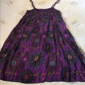 Purple dress with flower